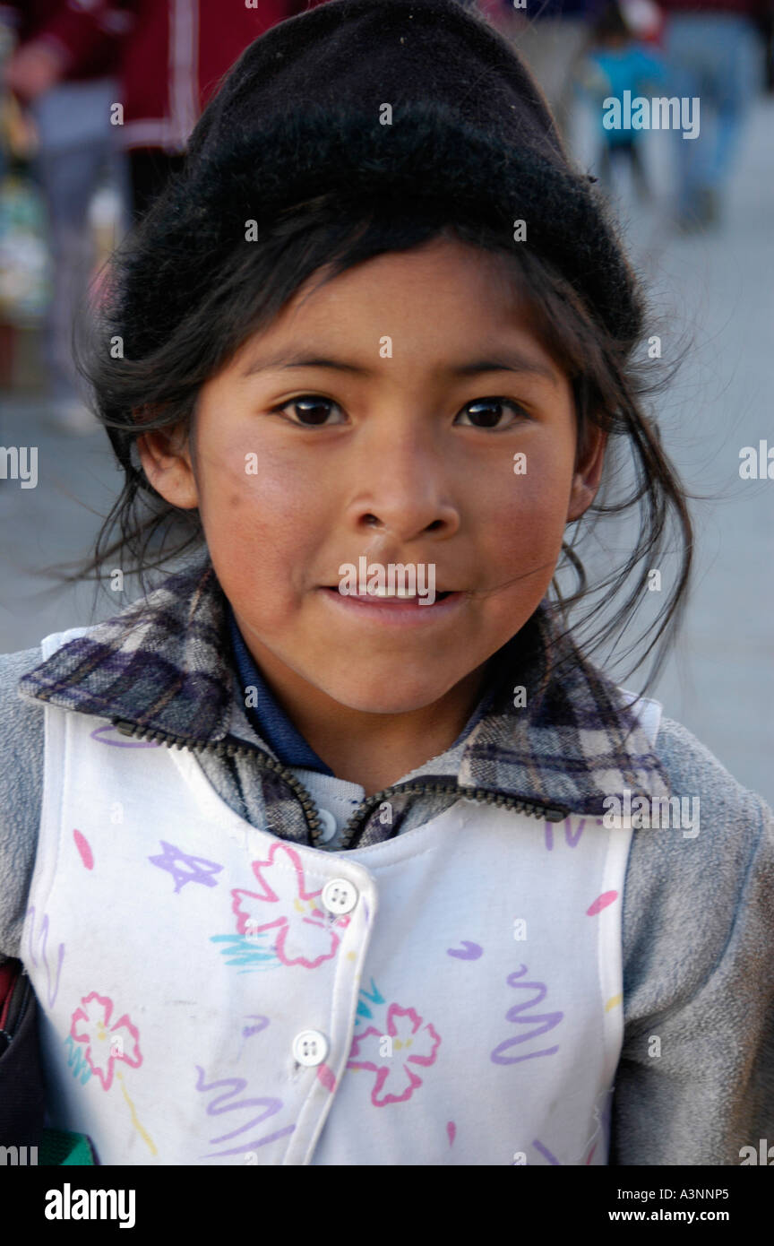 Kind in Bolivien Stockbild