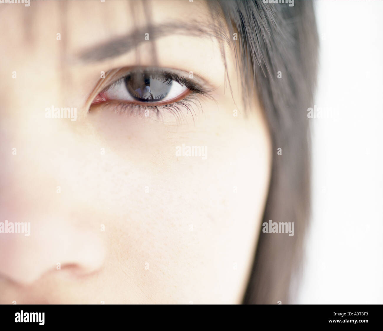 Womans Auge fotografiert frontal ein Auge Stockbild