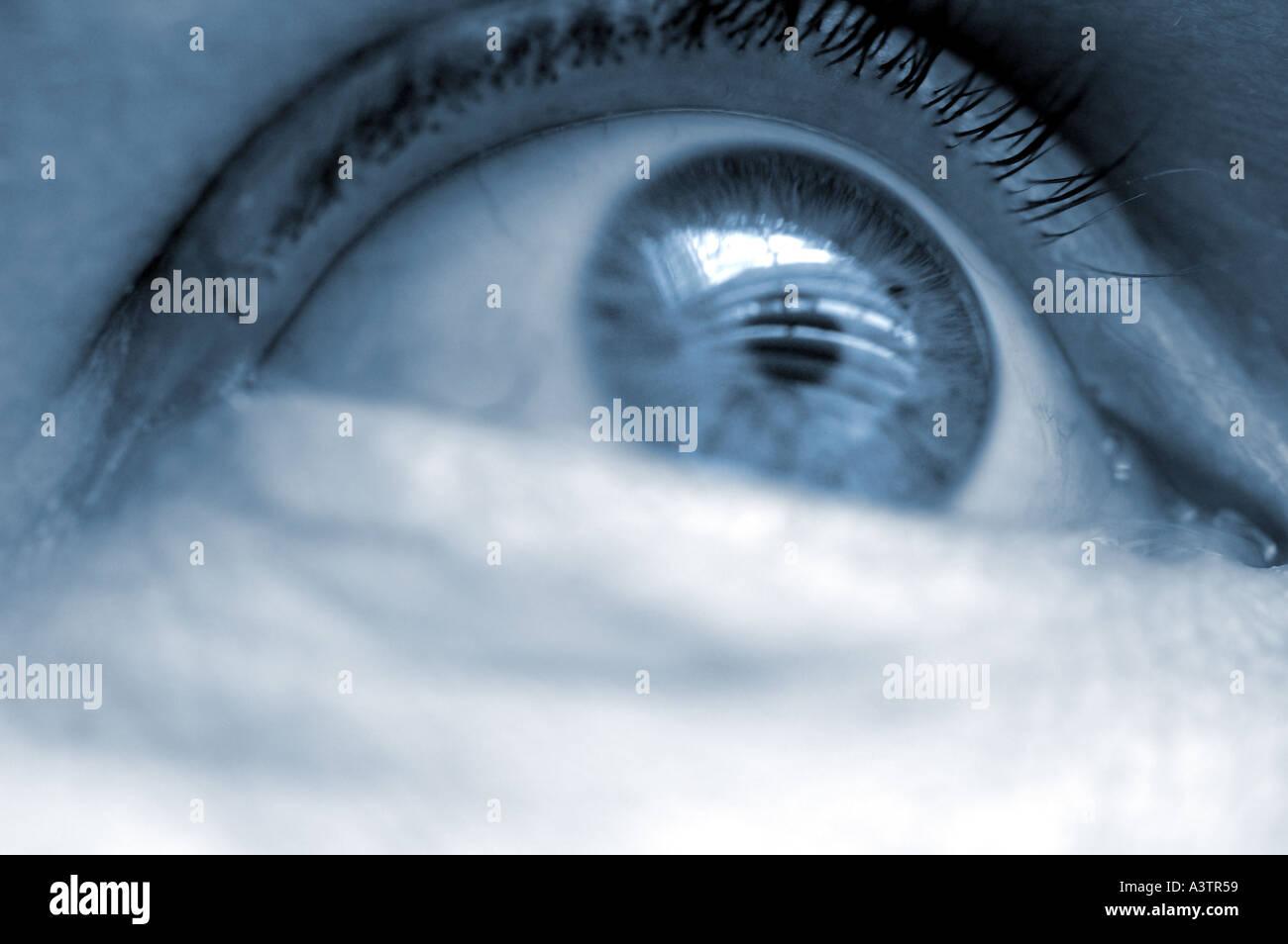 Auge, Blick in Richtung Zukunft Stockfoto