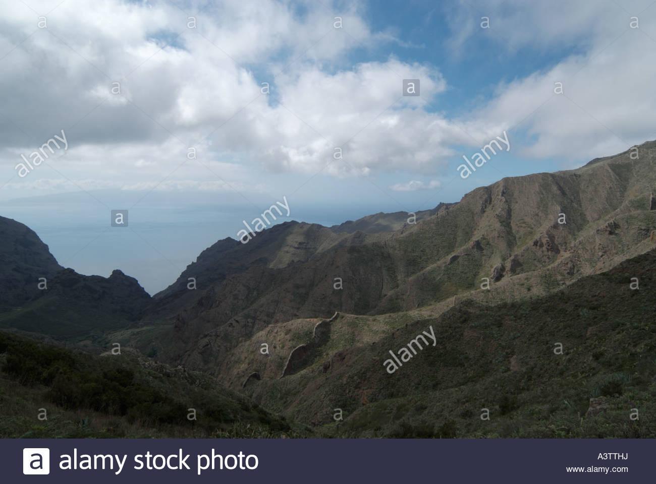 Macizo de Teno Berggebiet in Western-Teneriffa, Spanien Stockbild