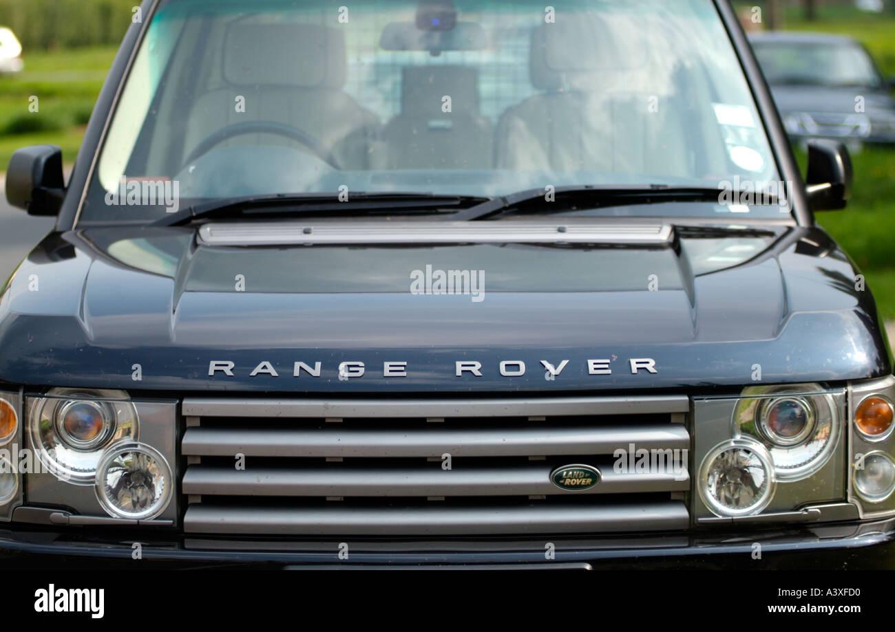 Range Rover Geländewagen Reisen vier von vier 4 4 X 4 Grill Abzeichen Ford motor Company Fomoco off Road Offroad offroader Stockbild
