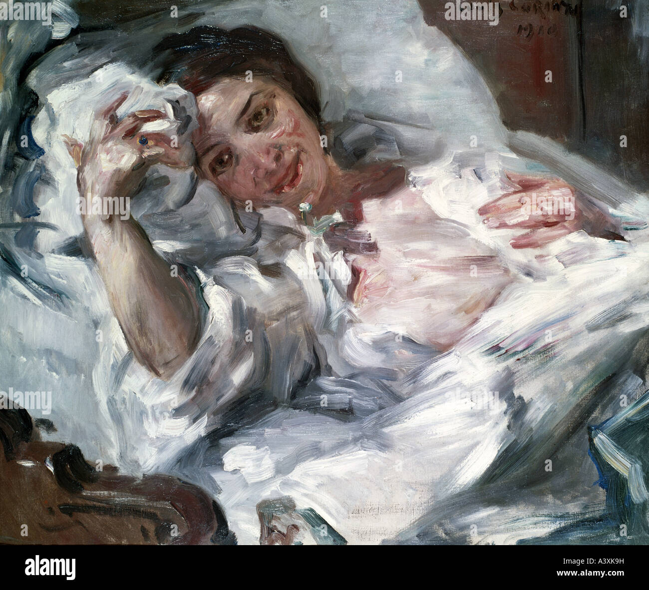 """""""Bildende Kunst, Corinth, Lovis (1858-1925), Malerei,""""Morgensonne"""", (""""Morgensonne""""), 1910, Stockbild"""