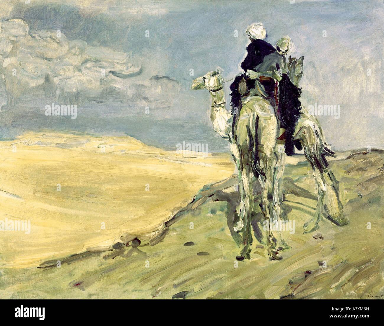 """Bildende Kunst, Slevogt, Max (8.10.1868 - 20.9.1932), Malerei""Sandsturm in der Wüste"", 1914, Gemäldegalerie Dresden Stockfoto"