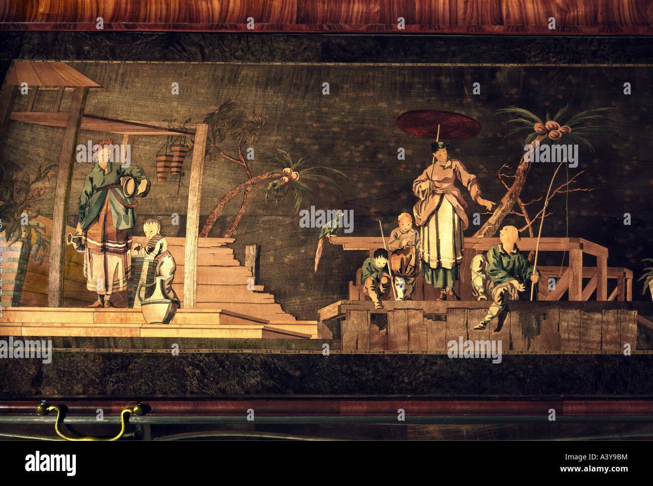 Bildende Kunst Möbel Davenport Detail Szene Aus China Von