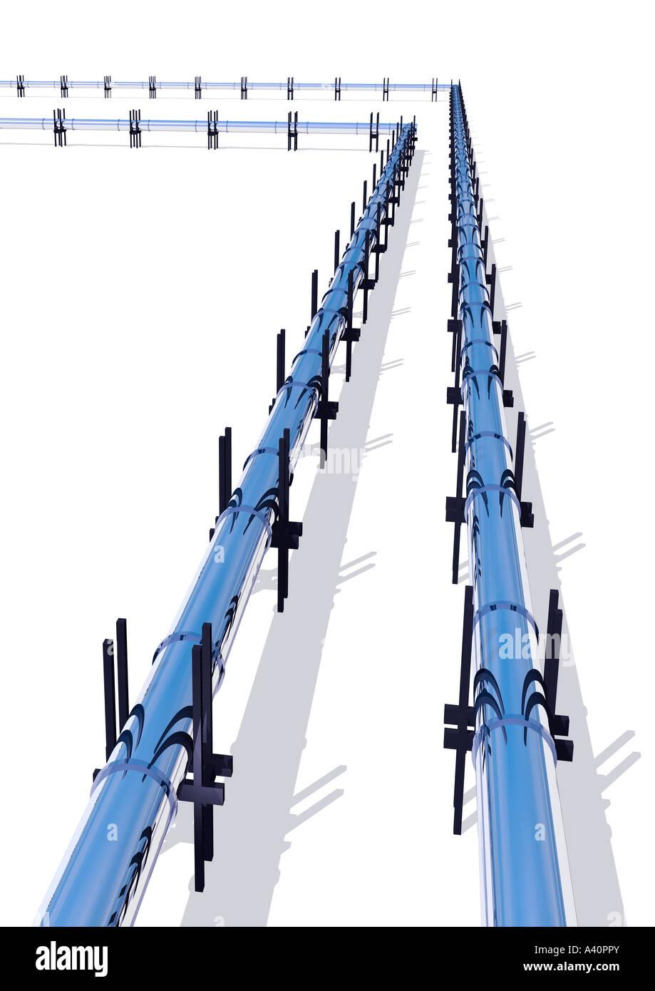 Rohrleitungen Stockbild