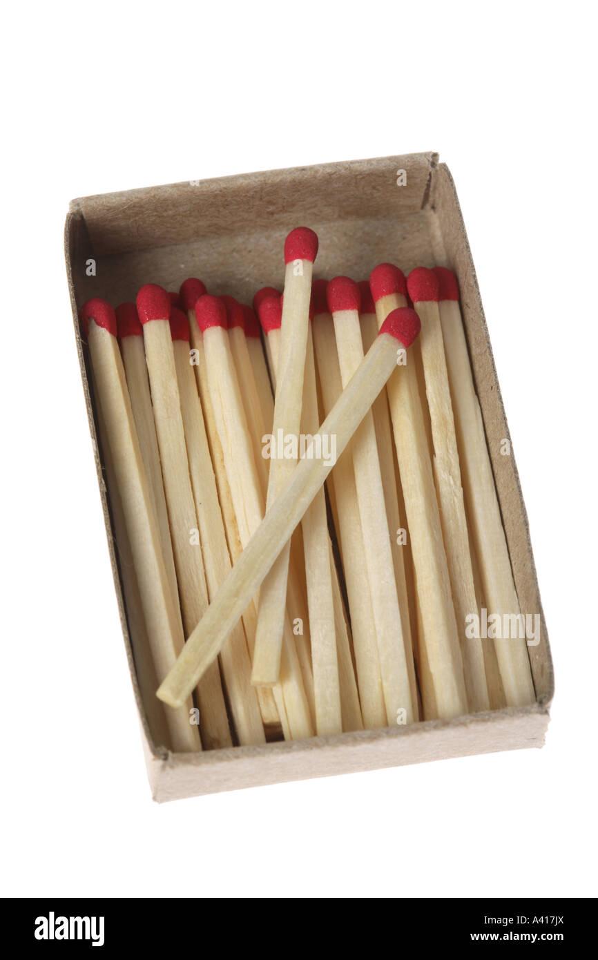 Schachtel Streichhölzer Stockbild