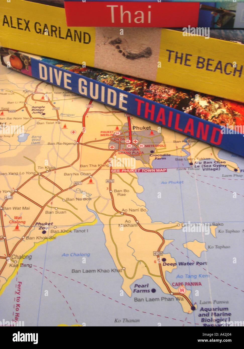 Thailand Inseln Karte.Rough Guide Thailand Inseln Und Strände Alex Garland Roman The Beach