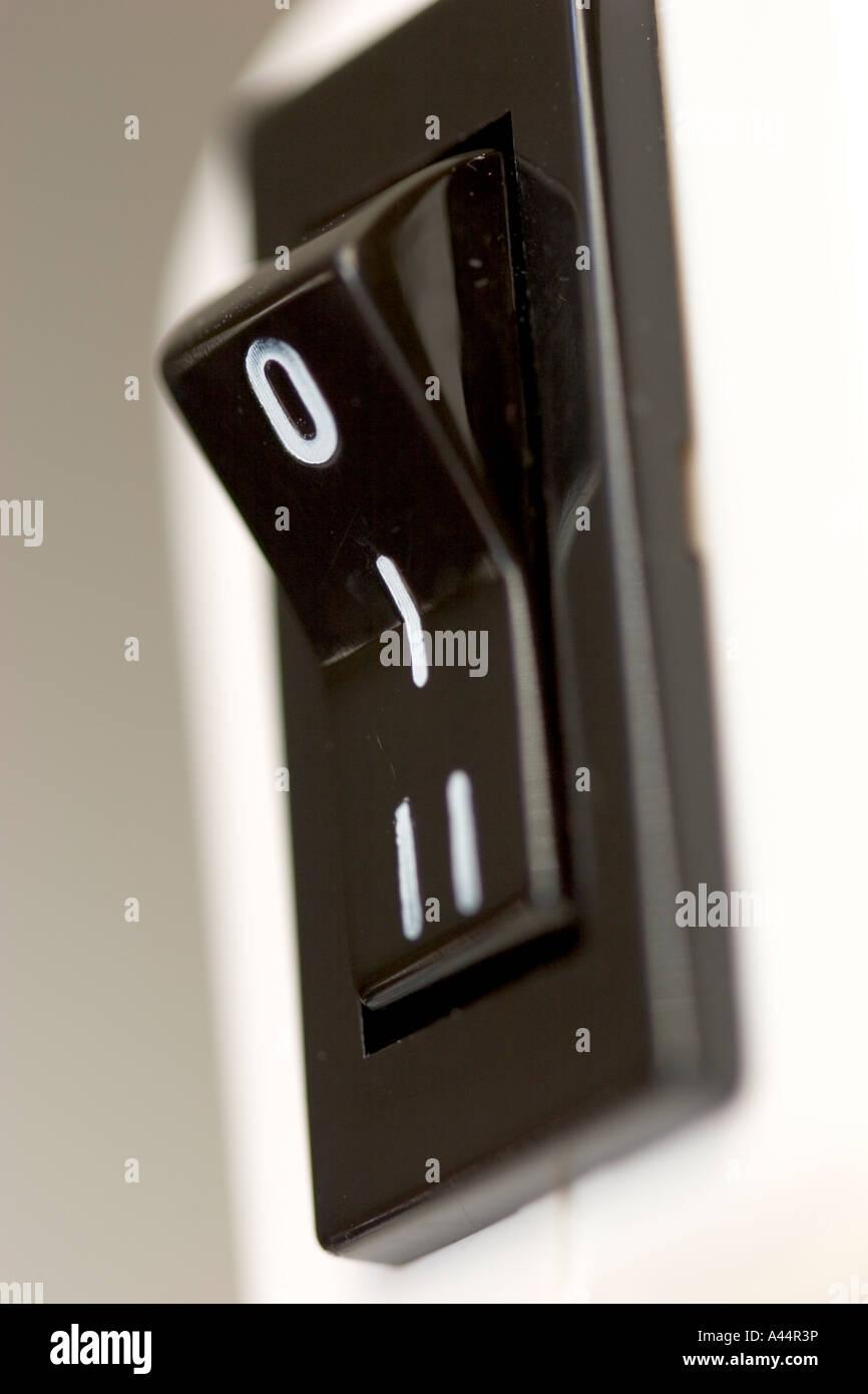 Elektro Wippschalter aus ein Haushaltsgerät Stockfoto, Bild ...