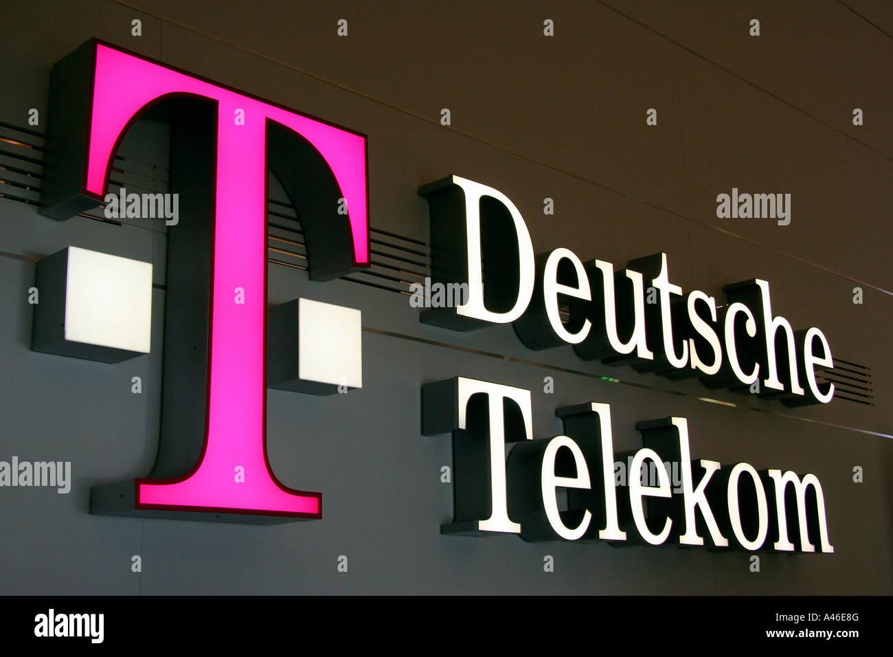 Logo Der Deutschen Telekom Ag Berlin Deutschland Stockfoto Bild