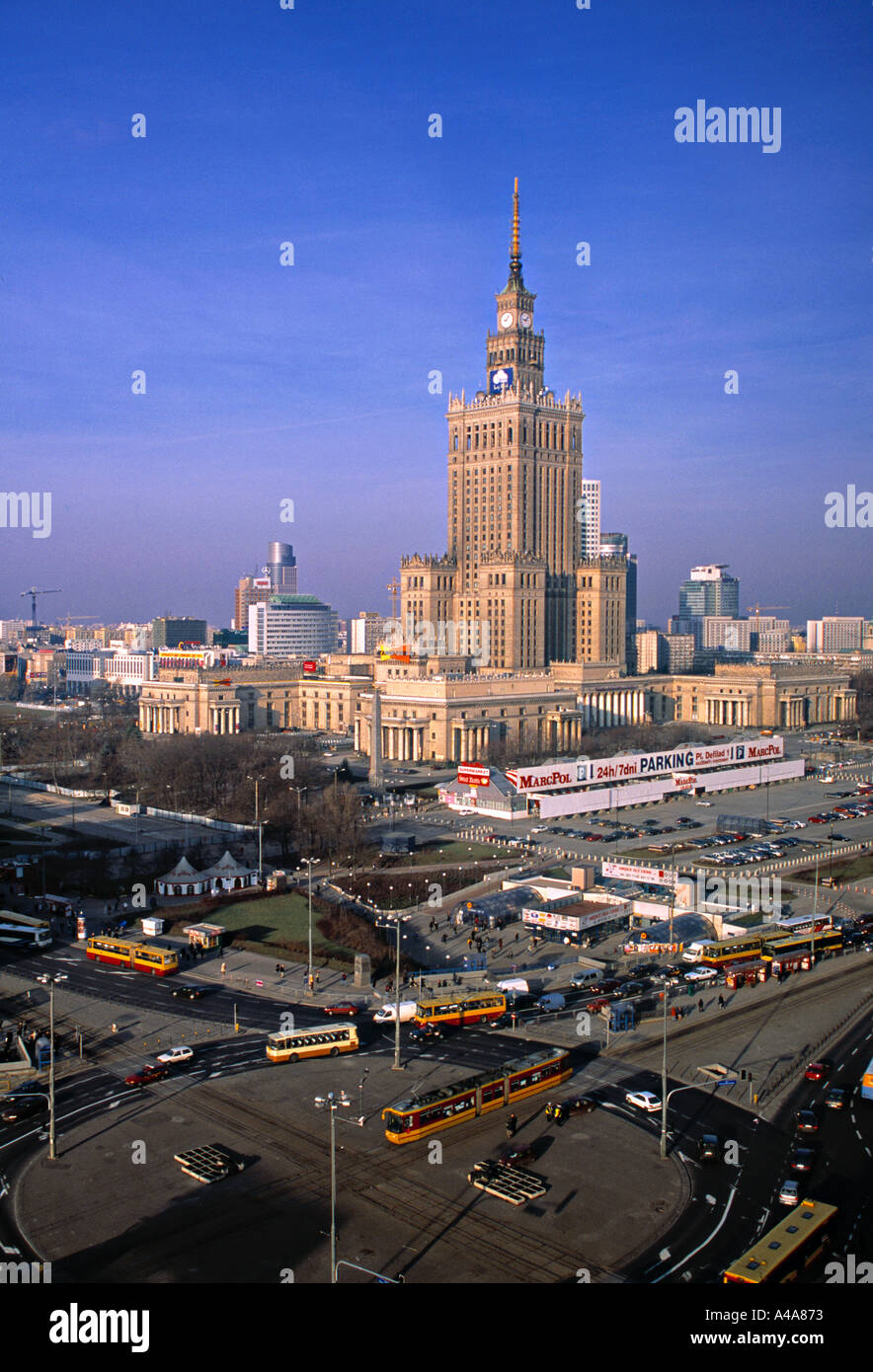Kulturpalast, Warschau, Polen Stockbild
