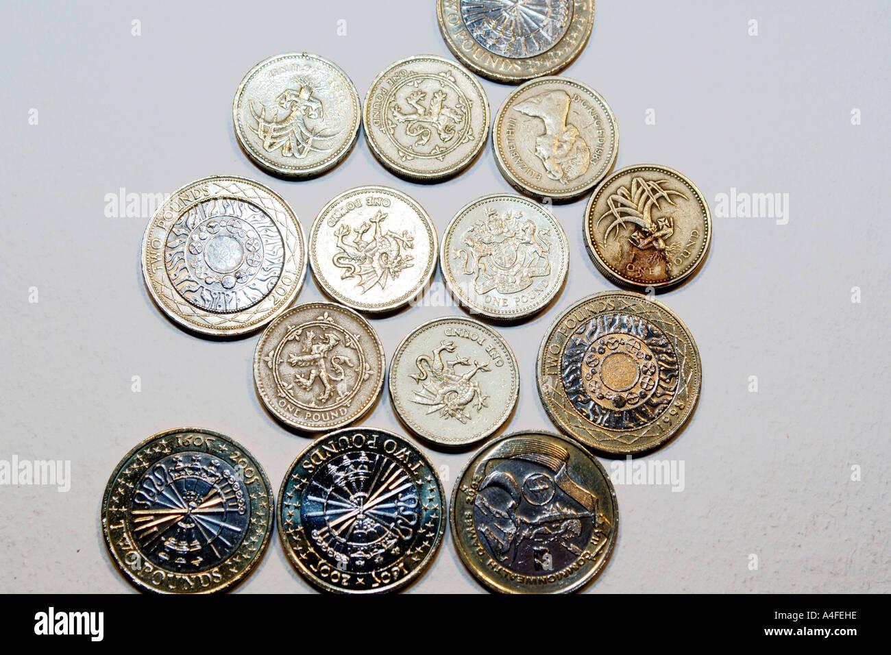 Englische Pfund Münzen Stockfoto Bild 6305181 Alamy