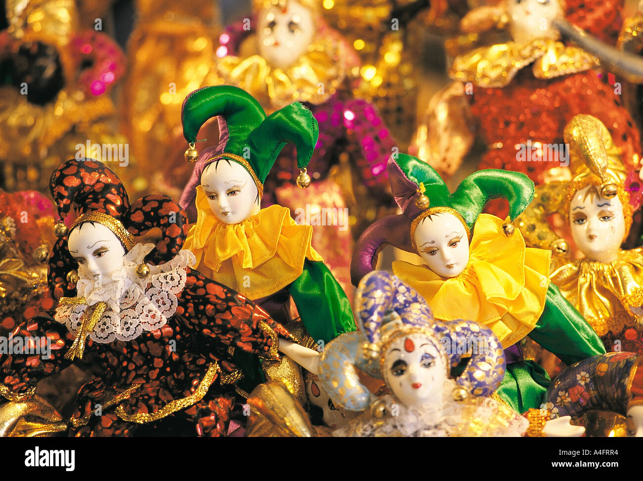 Karneval-Puppen in New Orleans Stockbild