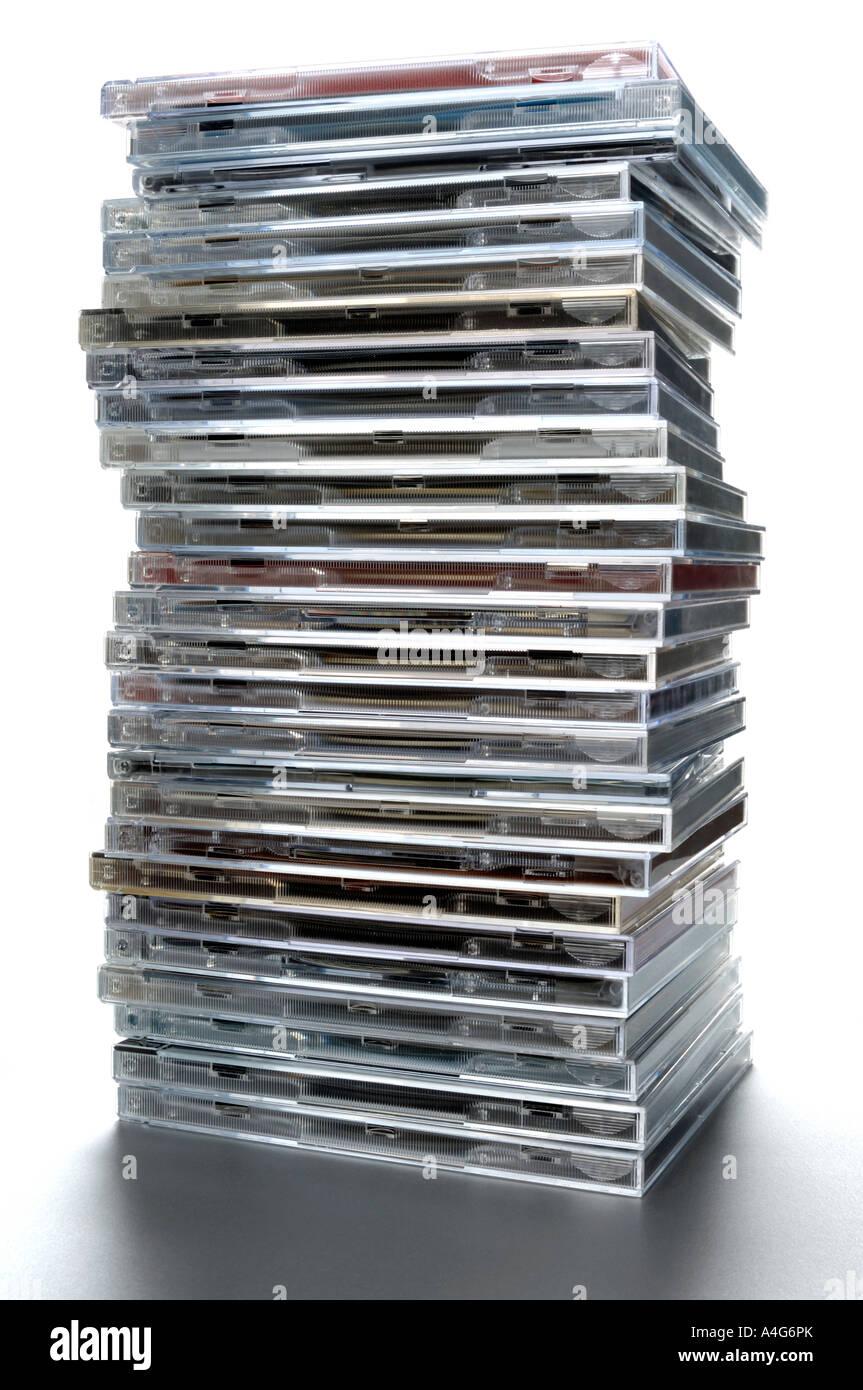Stapel von Musik-cds Stockbild