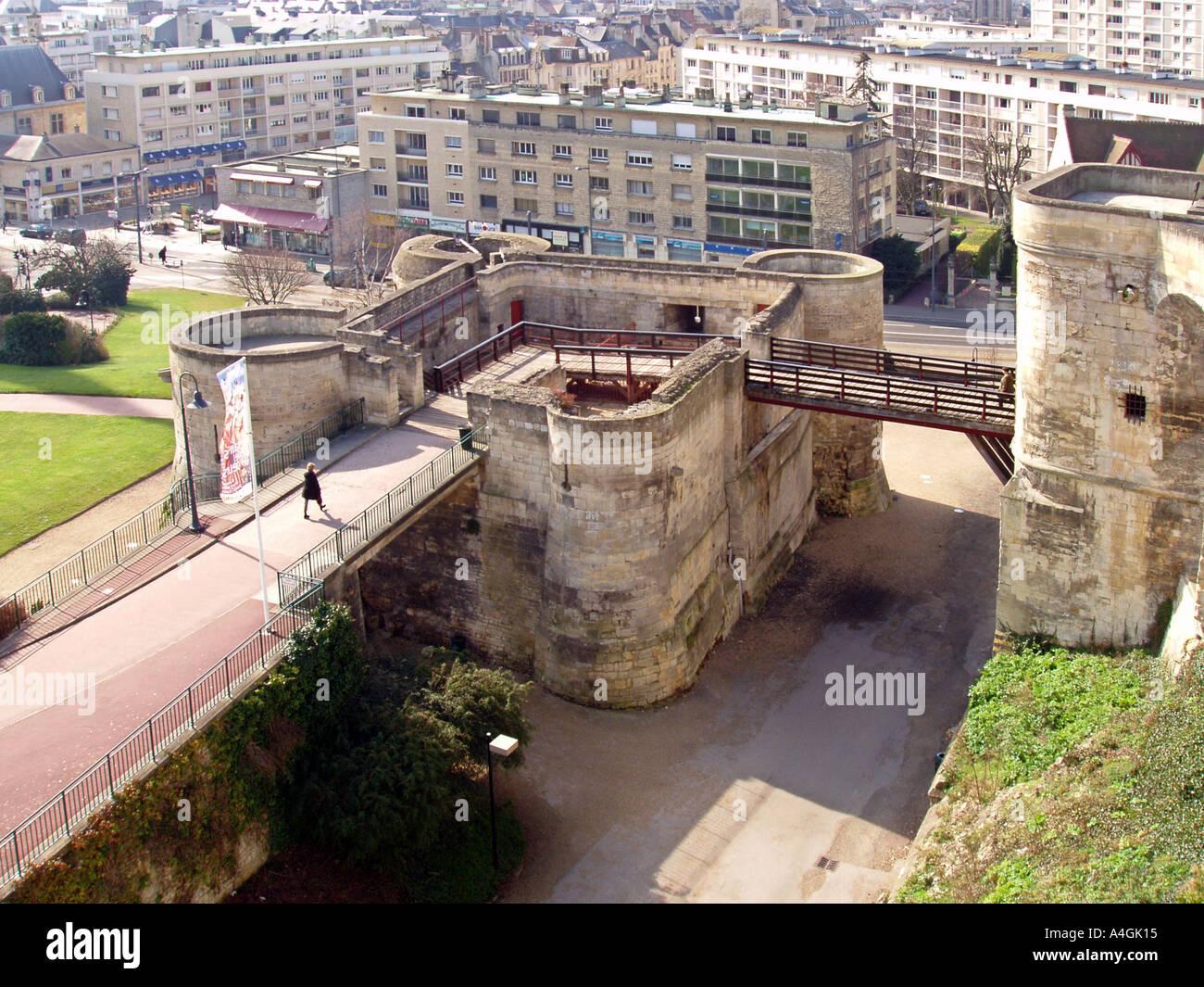 Die Sehenswurdigkeiten Von Caen Calvados Normandie Frankreich Europa The Citadel Schloss Chateau Stockfotografie Alamy
