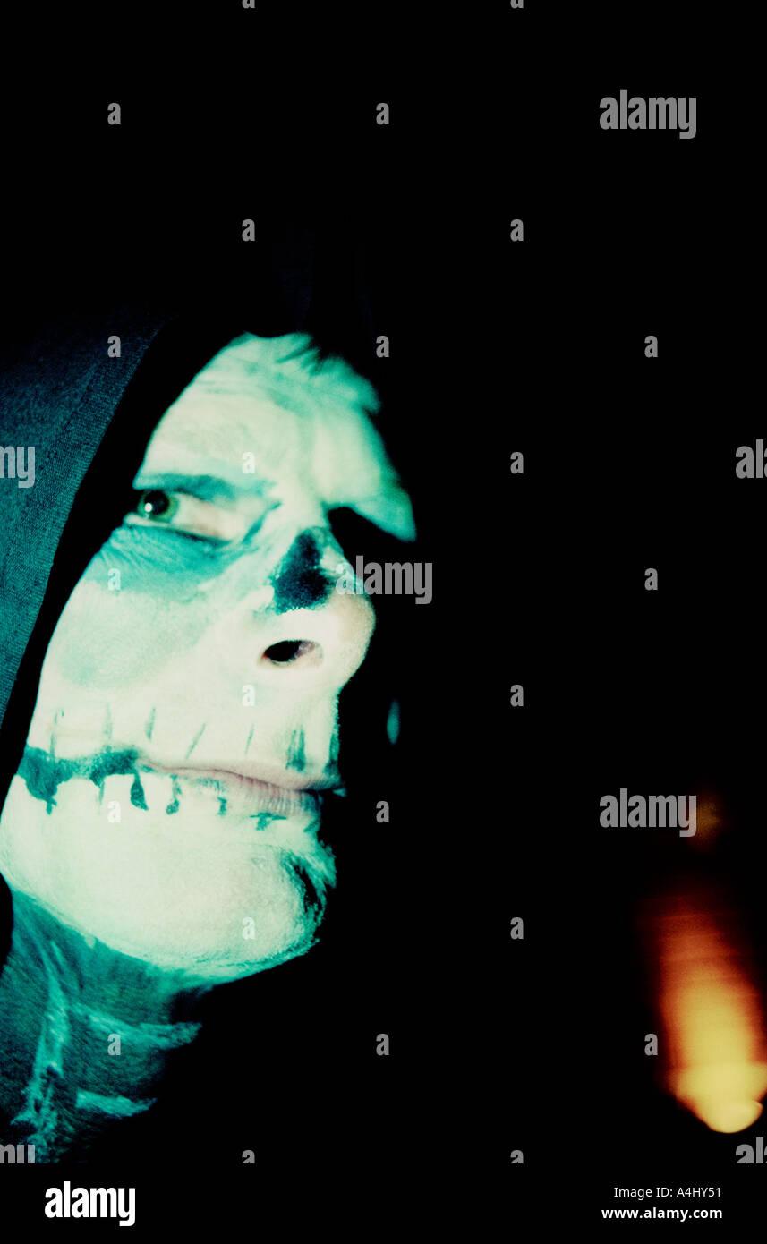 Herr Tod an Halloween in England UK Stockbild
