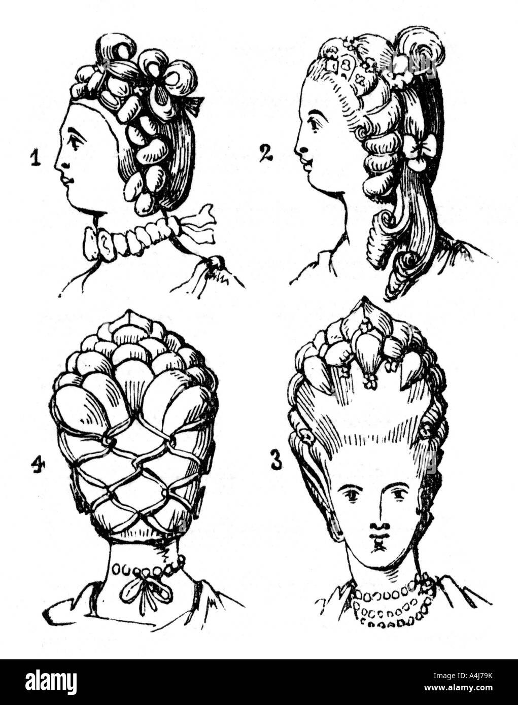 Ende Des 18 Jahrhunderts 1910 Frisuren Stockfoto Bild 11059998