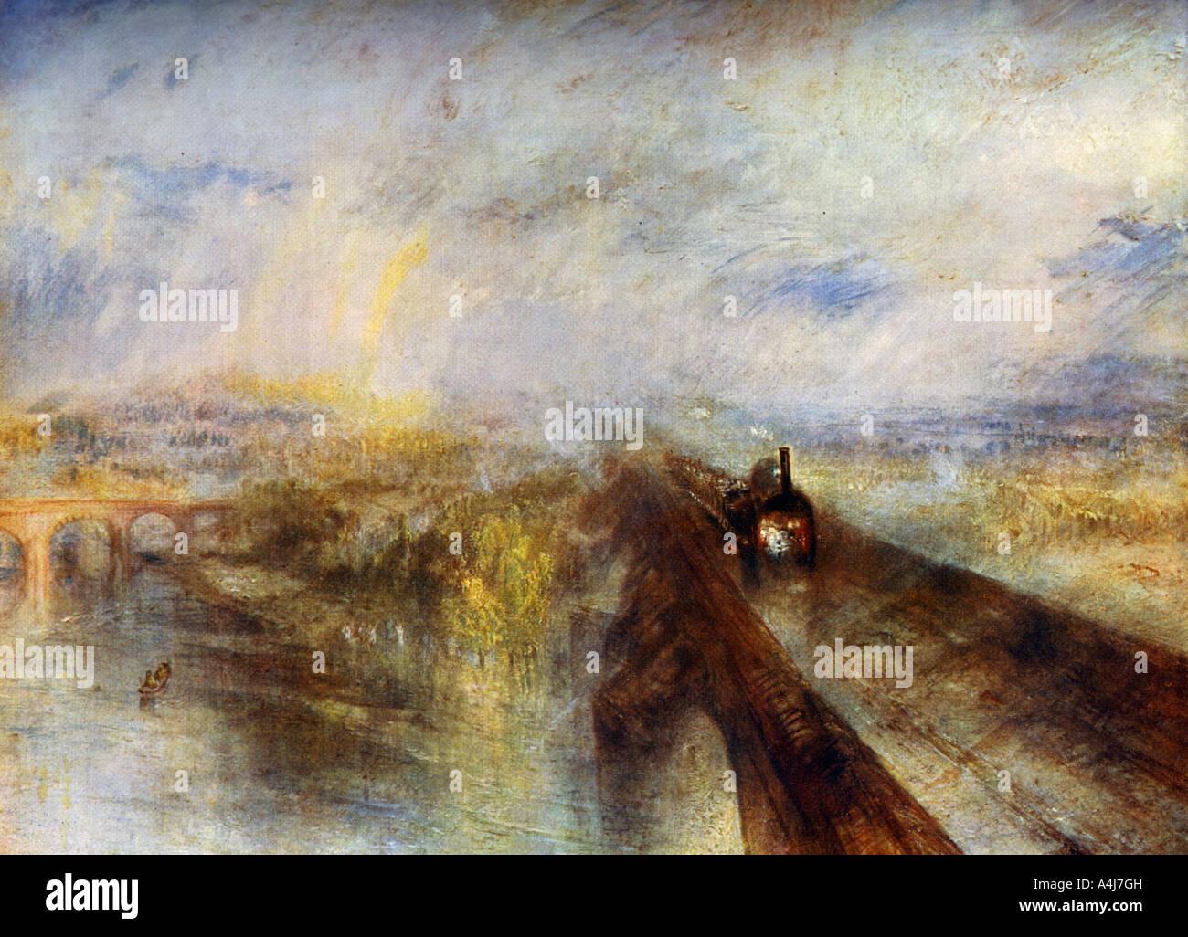 Regen, Dampf und Geschwindigkeit der Great Western Railway c1844 1912 Stockbild