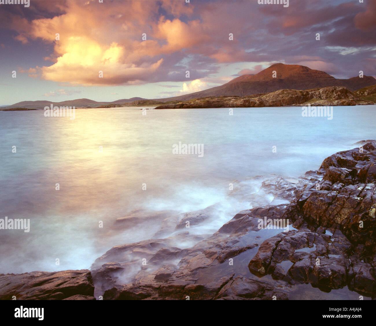 IE - CONNEMARA: Lettergesh Strand Stockfoto
