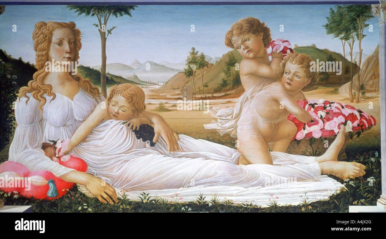 Eine Allegorie 1490 1550 Stockbild
