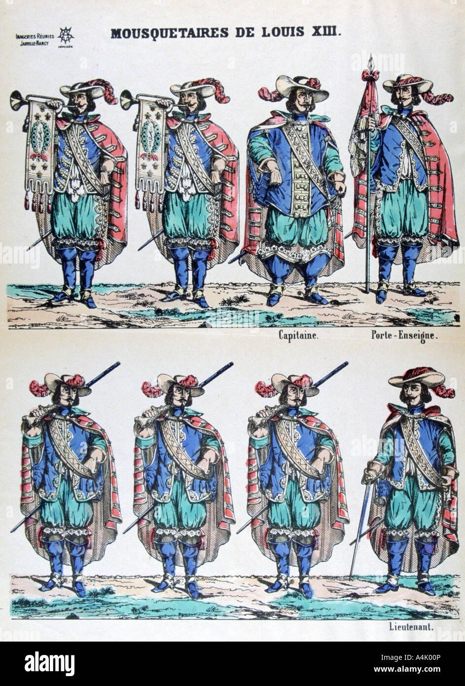 17 Jahrhundert Bild Architektur: Musketiere Von Louis XIII Aus Dem 17. Jahrhundert, 19