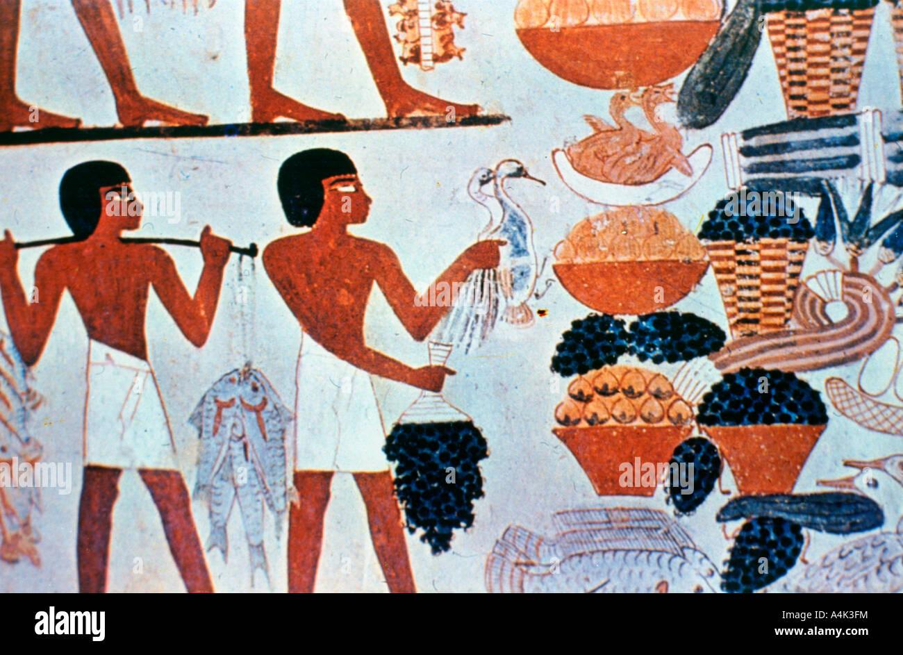 Ancient Egyptian Painting Food Stockfotos Und Bilder Kaufen Alamy