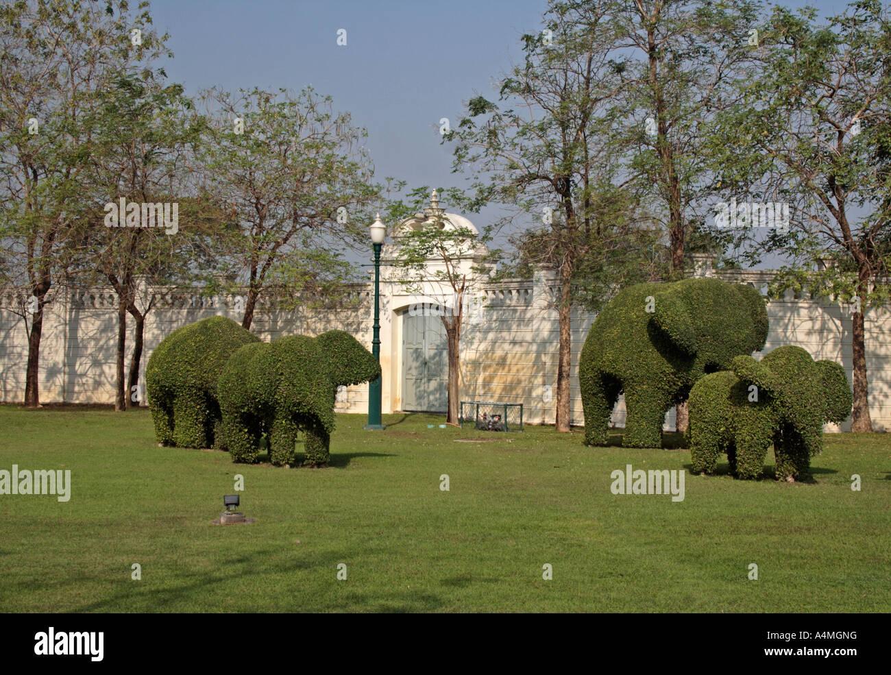 Nice Elefanten Hecke In Den Umliegenden Gärten Der Bang Pa In