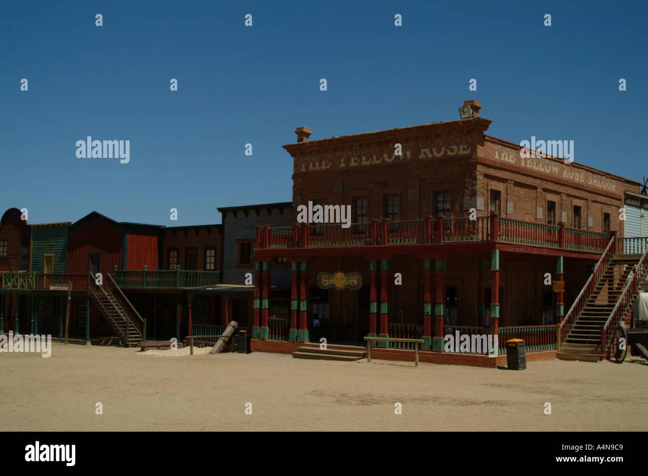 Wild-West-Stil Bar Taverne am Mini-Hollywood-Andalusien Stockfoto ...