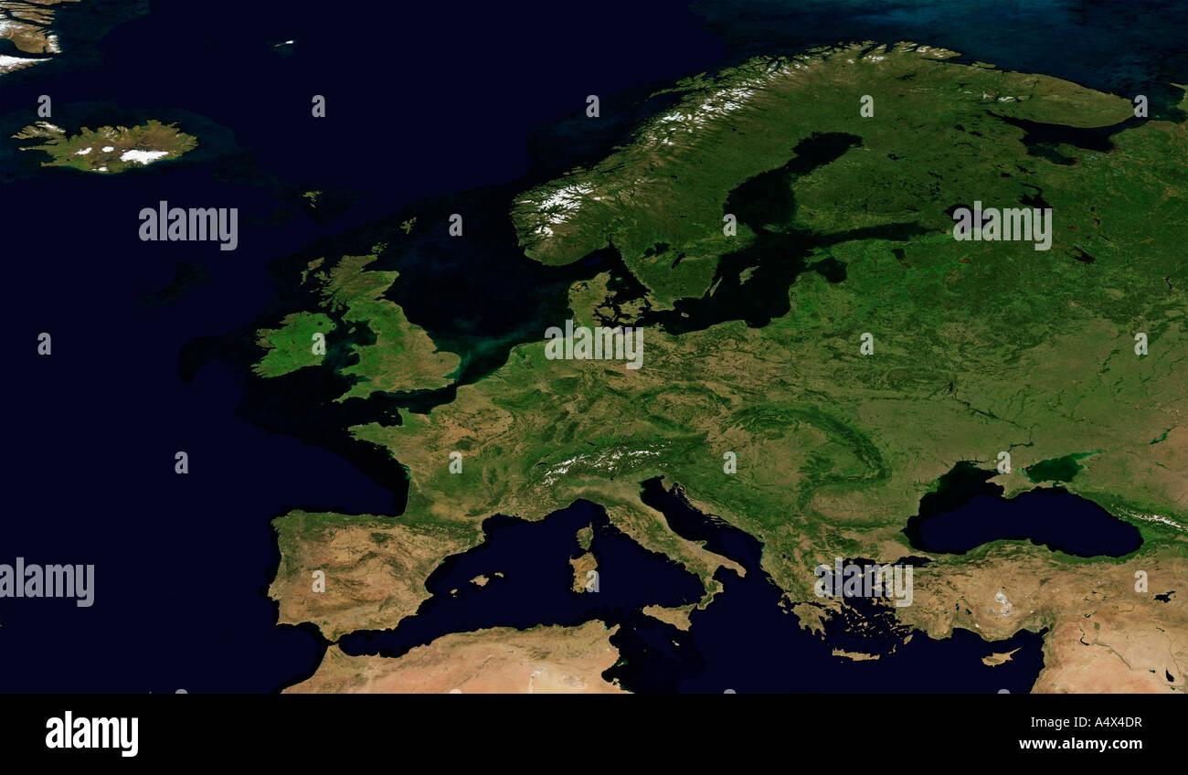 Europa optimiert und erweiterte Version der ein Originalbild der NASA Stockbild