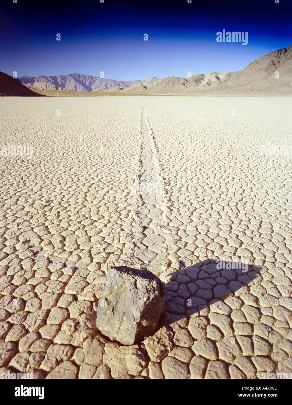 Die Rennstrecke in Death Valley Nationalpark Kalifornien USA Stockbild