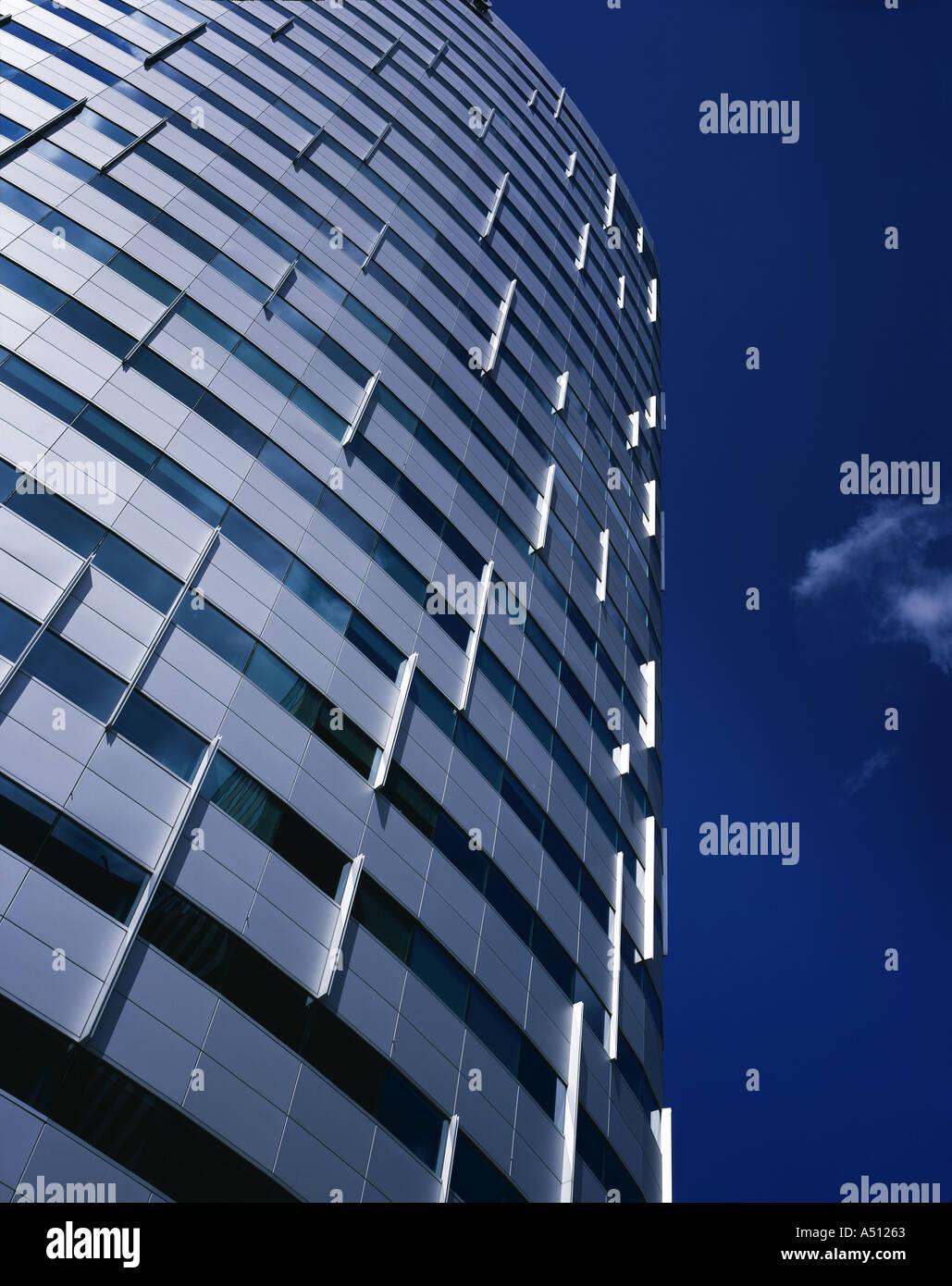 Oval-Tower-Komplex, Amsterdam Süd. Architekt: Skidmore, Owings and Merrill London (SOM) Stockbild