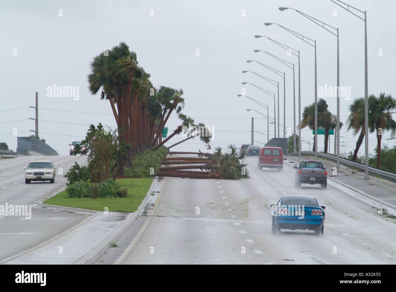 Hurrikan Frances Saint Lucie County Florida Schaden Zerstörung Stockbild