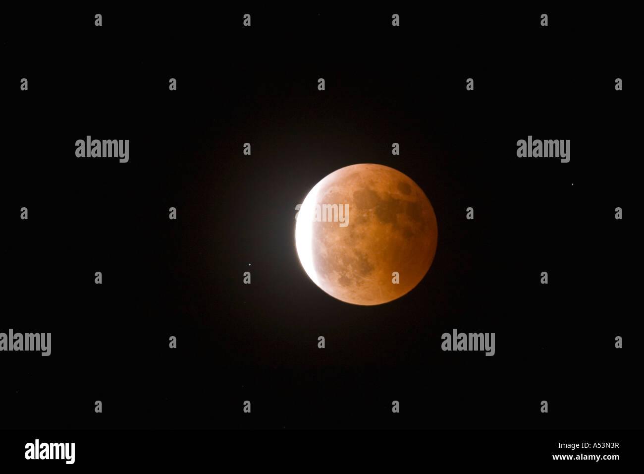 Mondfinsternis 3. März 2007 in England UK United Kingdom GB Großbritannien britische Inseln Stockbild