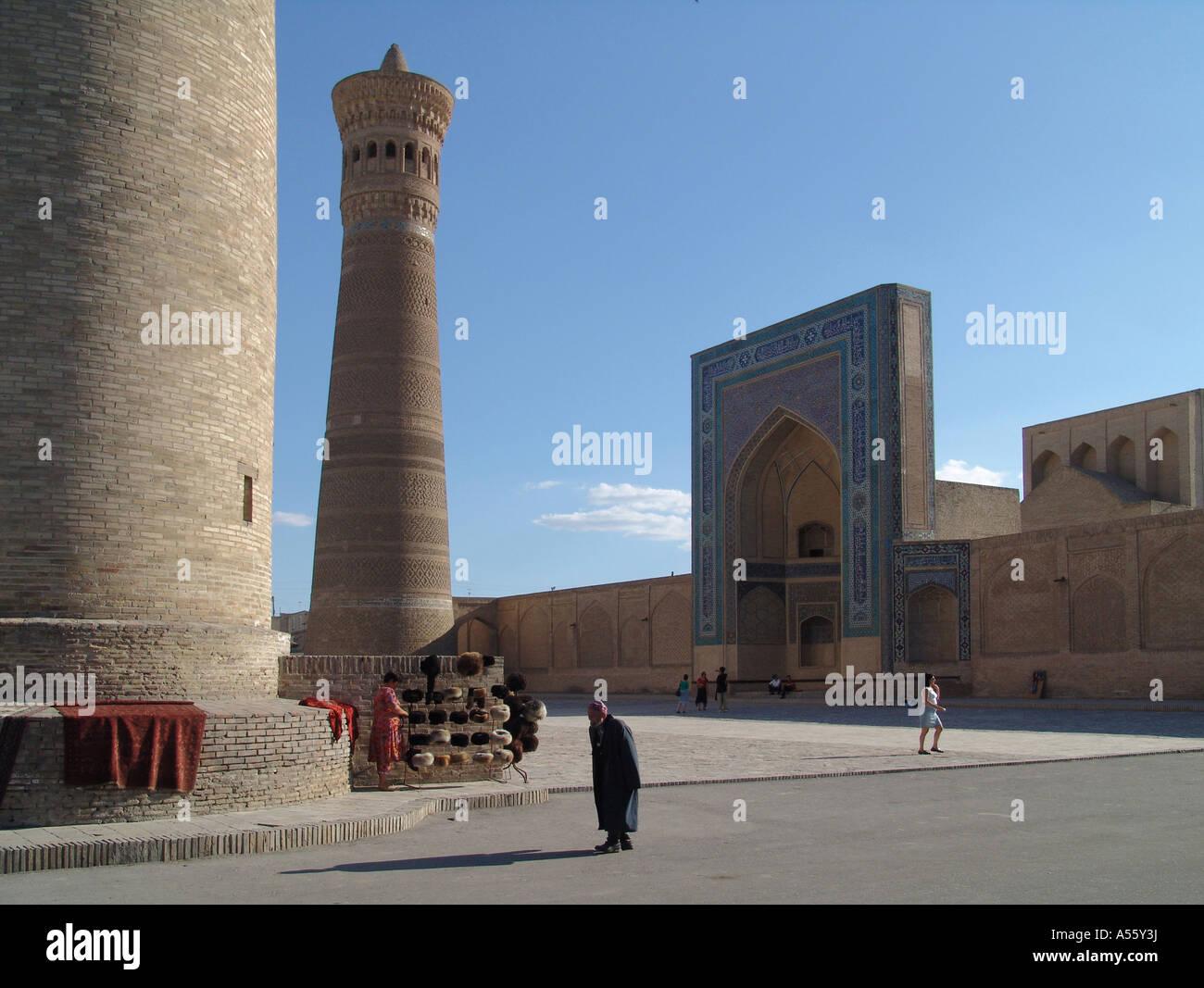 Painet iw2366 in Zentralasien Sowjetunion Bilder Islam moslem Seiden Straße Usbekistan Kalon Minarett Moschee Stockbild