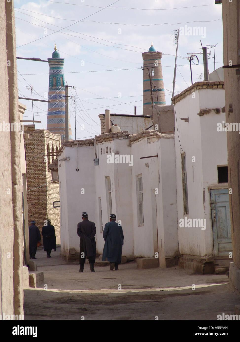 Painet iw2393 Asien Sowjetunion Bilder Islam moslem Seiden Straße Usbekistan Gassen Chiwa Land sich entwickelnde Stockbild