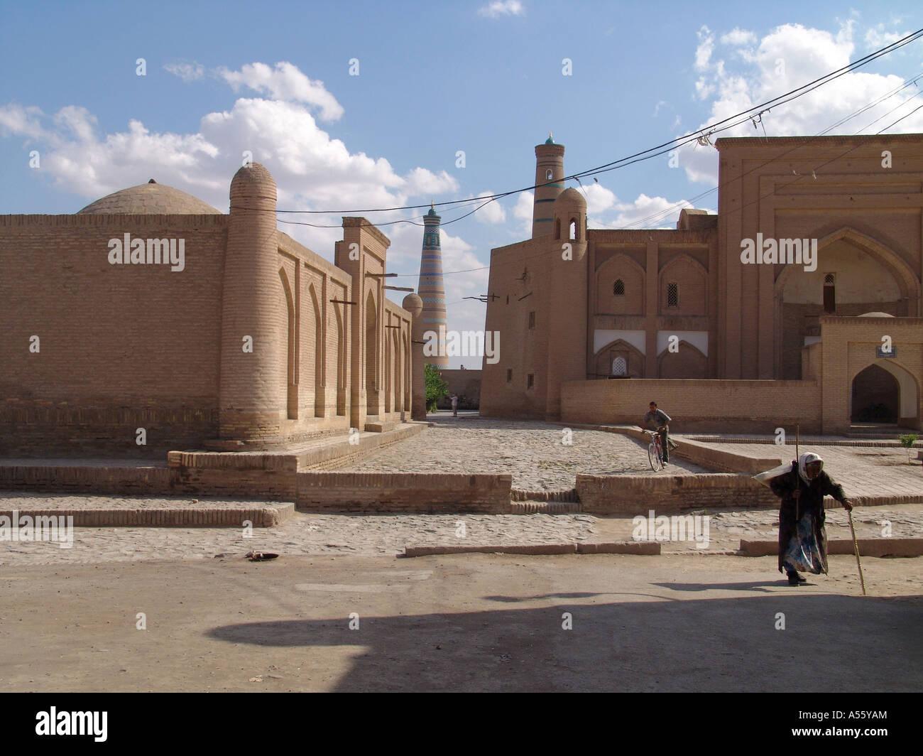 Painet iw2396 in Zentralasien Sowjetunion Bilder Islam moslem Seiden Straße Usbekistan Chiwa Land sich entwickelnde Stockbild