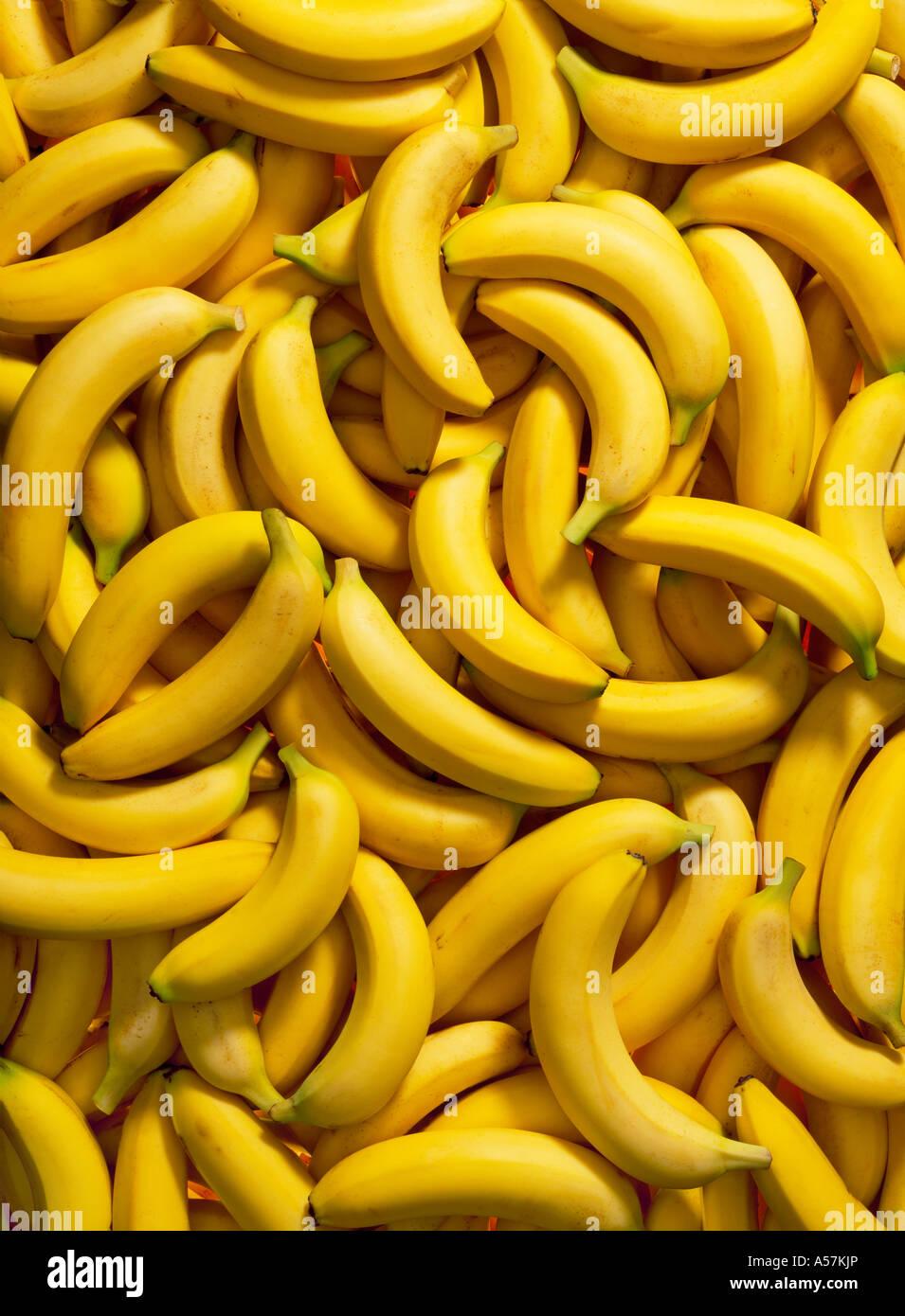 Ein Haufen von Bananen. Ideal als Hintergrund oder Hintergrund Stockbild