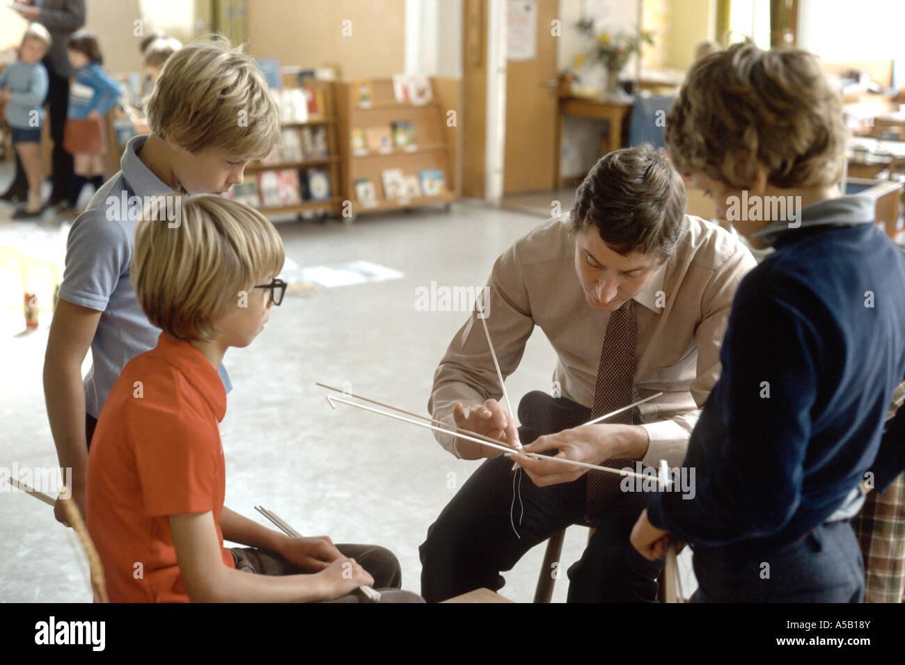 umfassenden Unterricht in den frühen 1980 Stockbild