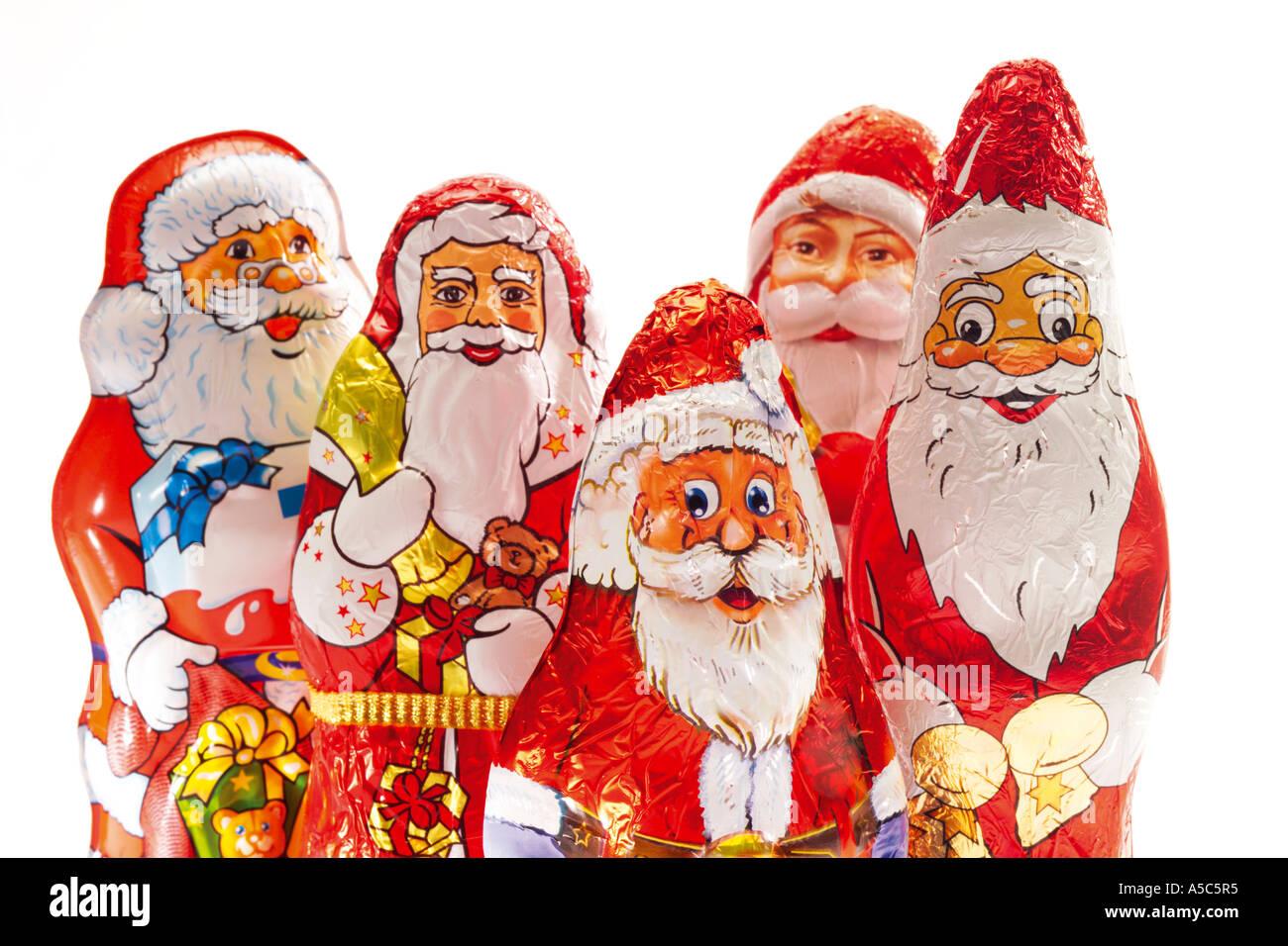 schokoladen weihnachtsm nner stockfoto bild 6437940 alamy. Black Bedroom Furniture Sets. Home Design Ideas