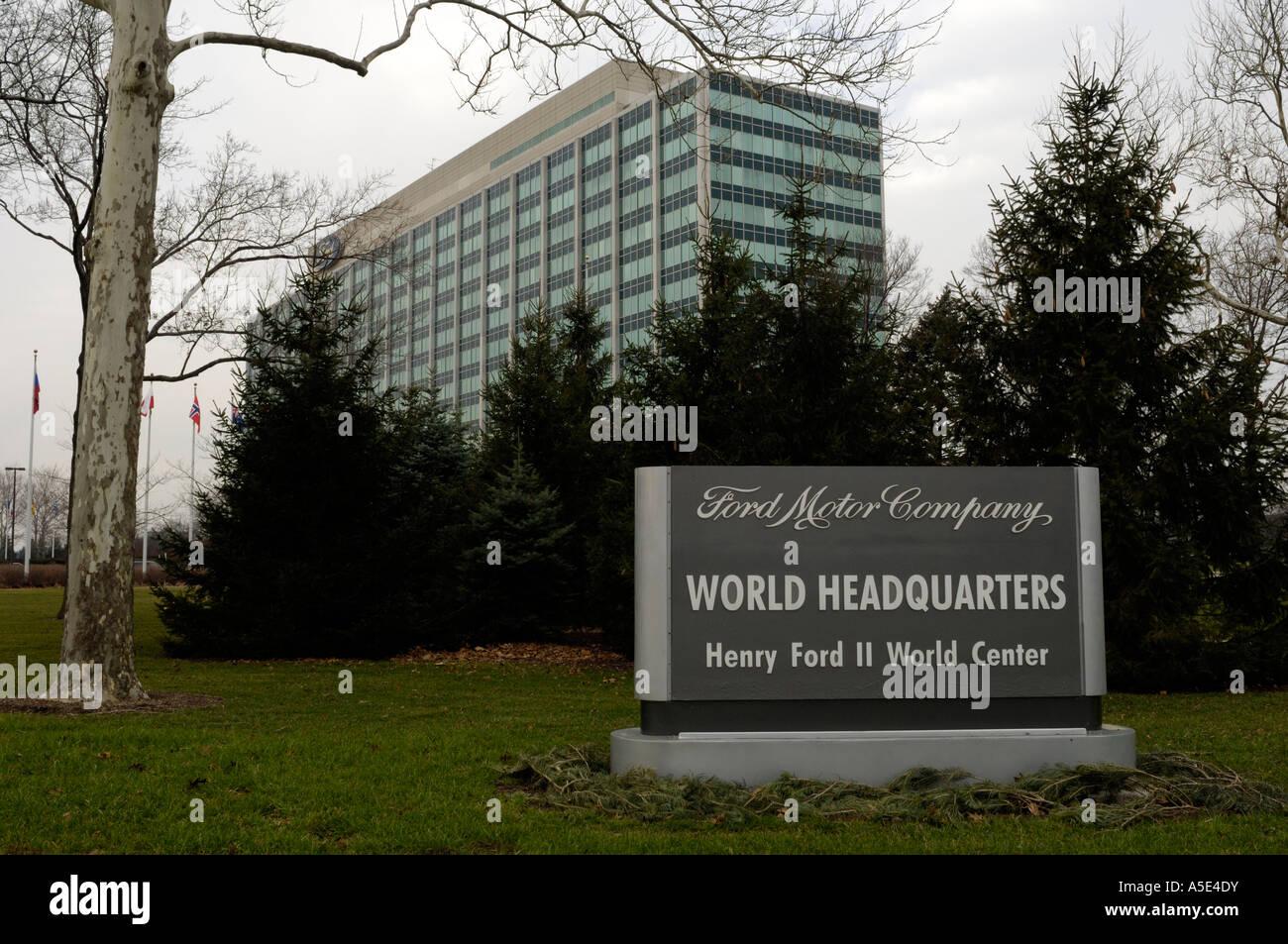 Welthauptquartier der Ford Motor Company in Dearborn, Michigan Stockbild