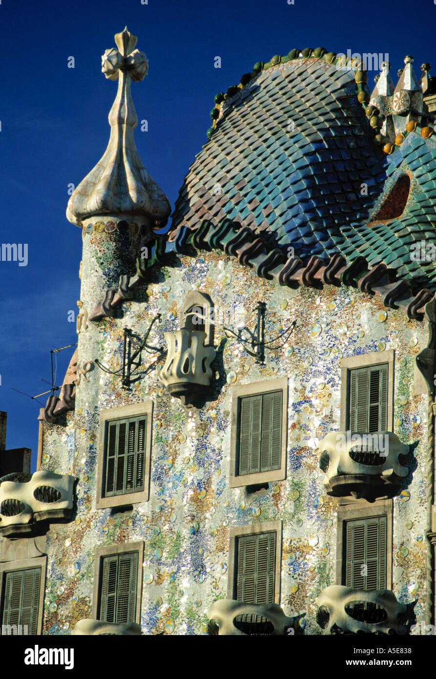 Casa Battlo Barcelona Spanien Stockbild
