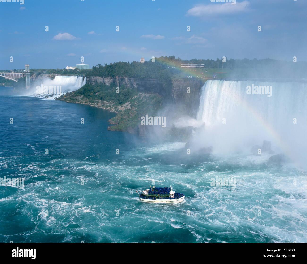 Mädchen des Nebels Kreuzfahrtschiff, Niagara Falls, Ontario, Kanada Stockbild