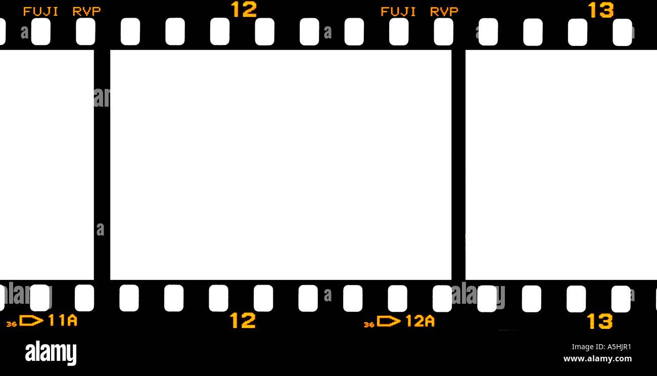 35mm Film Strip Fuji Velvia Mit Frame Nummern Stockfoto Bild