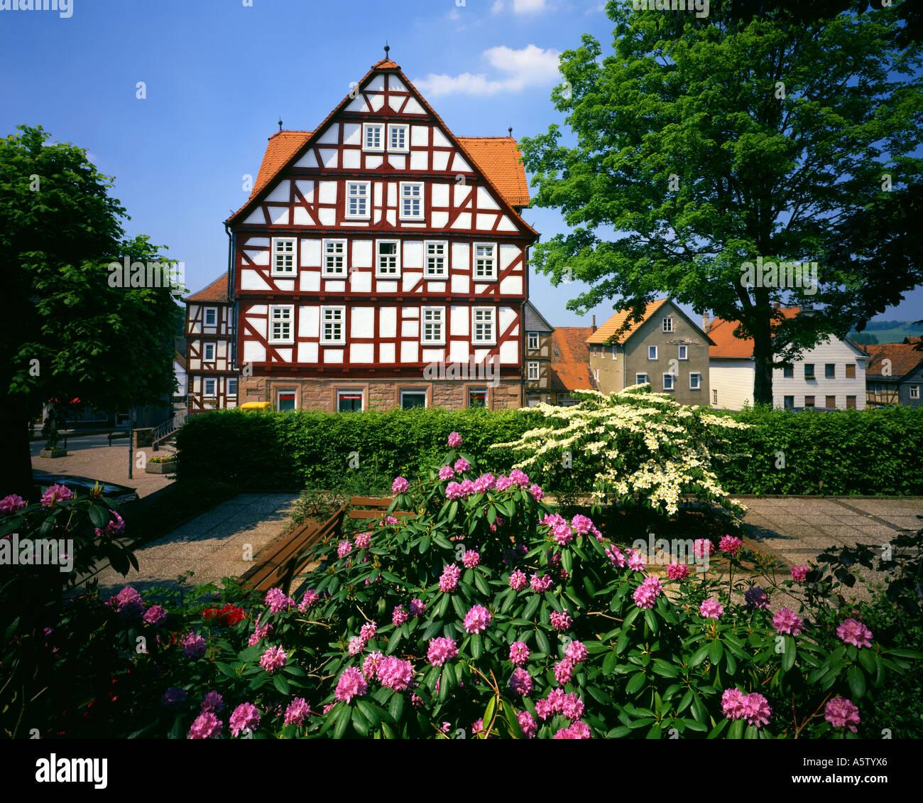 De - Hessen: Zentrum am Wetter Stockbild