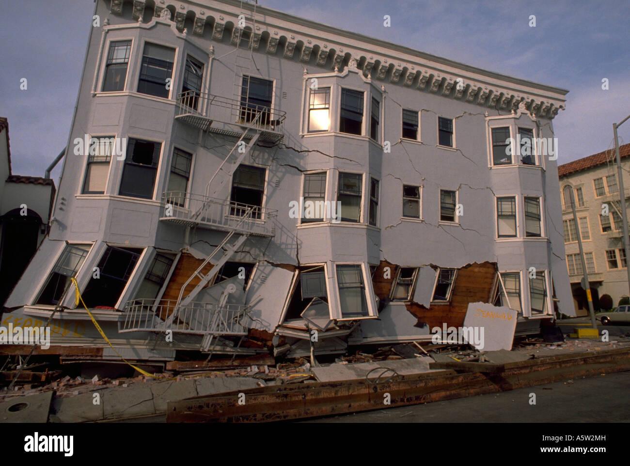 Painet Hl1108 Stürzte Gebäude 1989 Sf Erdbeben San Francisco