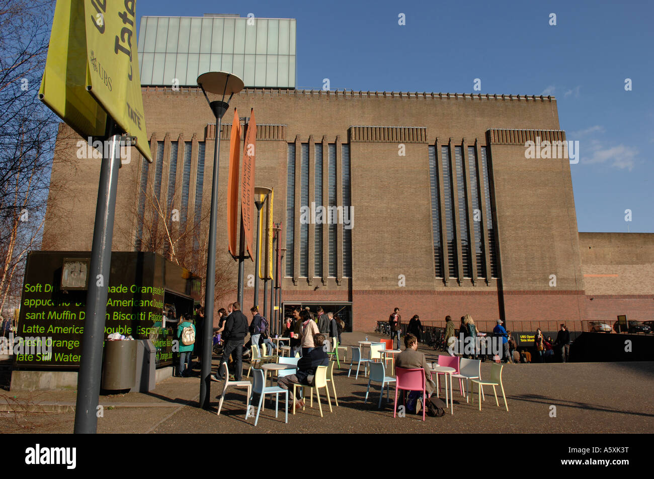 Tate Modern Cafe London Stockbild