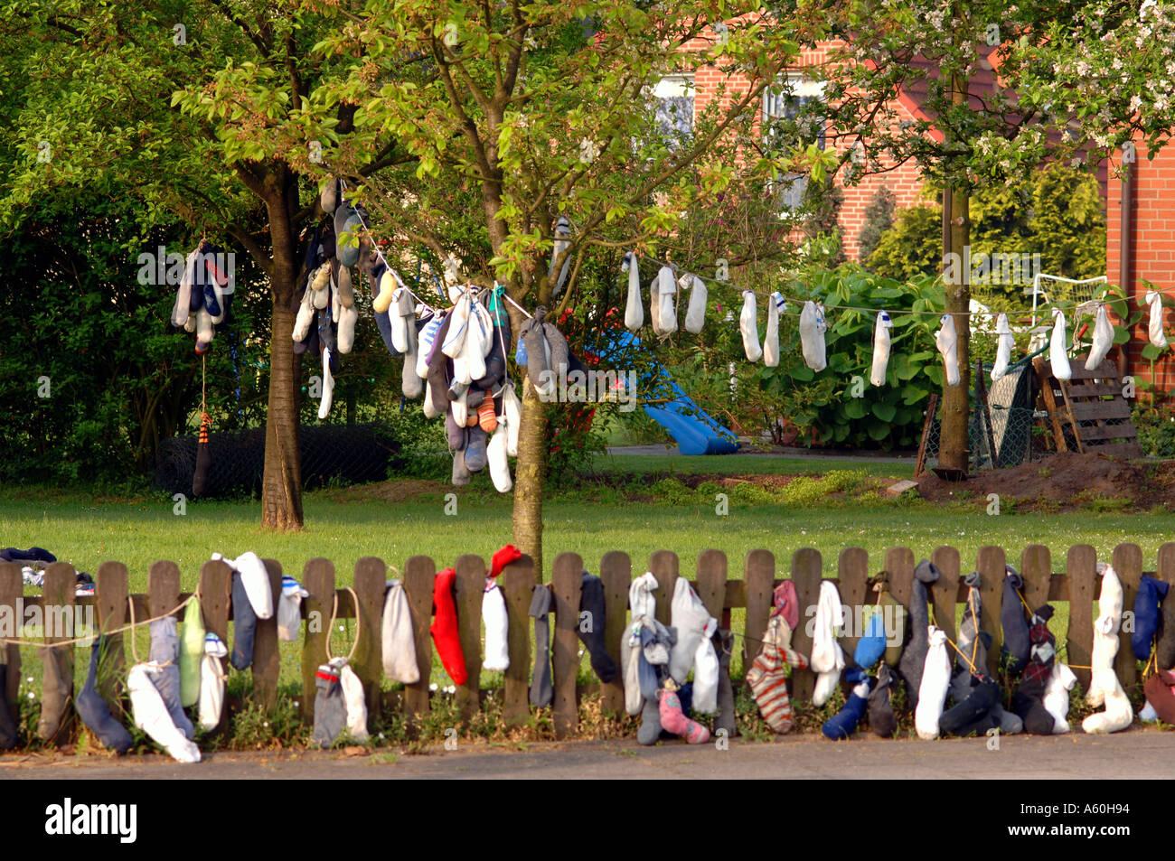 Deutsche Tradition Socken 25 Geburtstag Stockfoto Bild