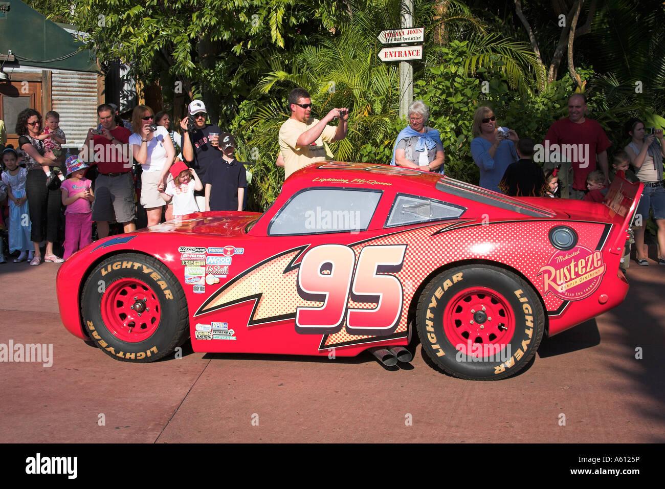 Lightning Mcqueen Auto Disney Mgm Studios Orlando Florida Usa