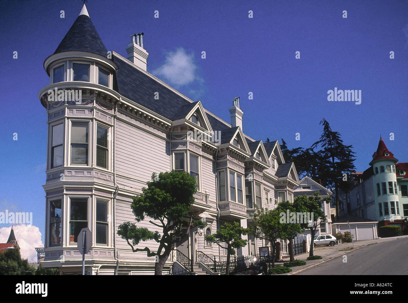 Haus Im Viktorianischen Stil In Stadt San Francisco Kalifornien