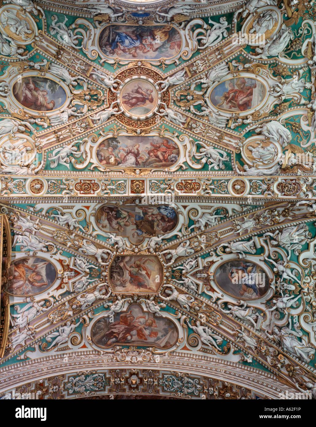 Bergamo, S. Maria Maggiore, Gewölbe Im Querhaus Stockbild