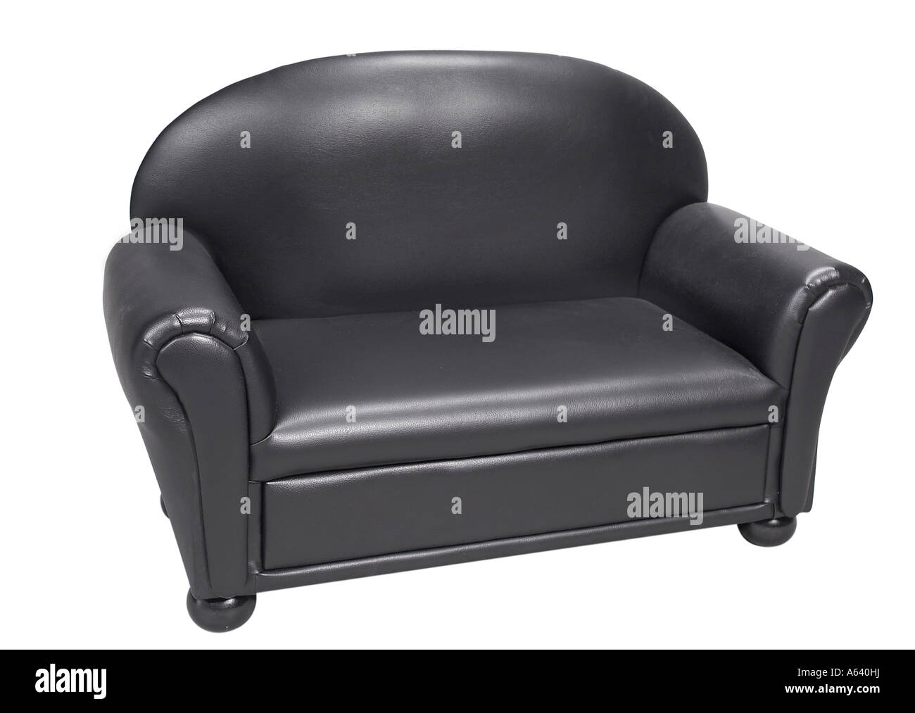 Cool Zweiersofa Sammlung Von Schwarzes Leder Sofa Couch Stuhl Weißen Hintergrund